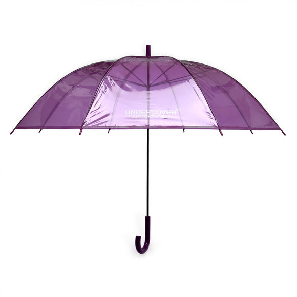 Undercover - Logo Print Transparent Umbrella (Purple)