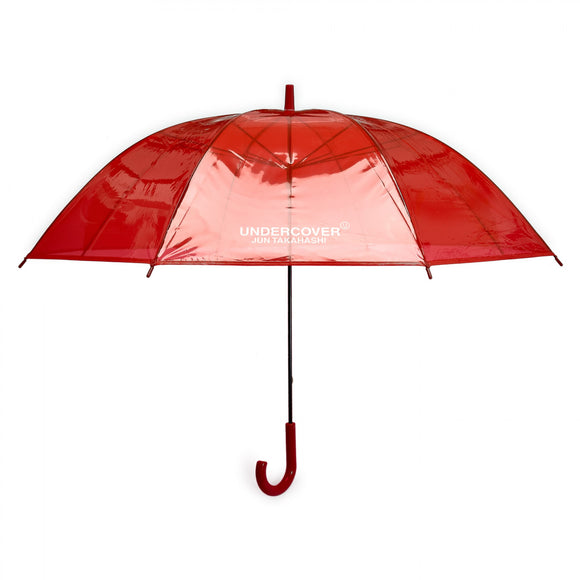 Undercover - Logo Print Transparent Umbrella (Red)