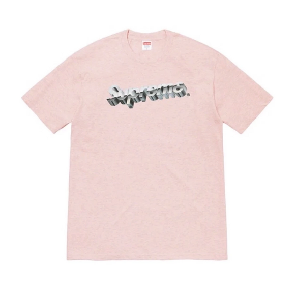 Supreme - Chrome Logo T-Shirt (Pink Heather)