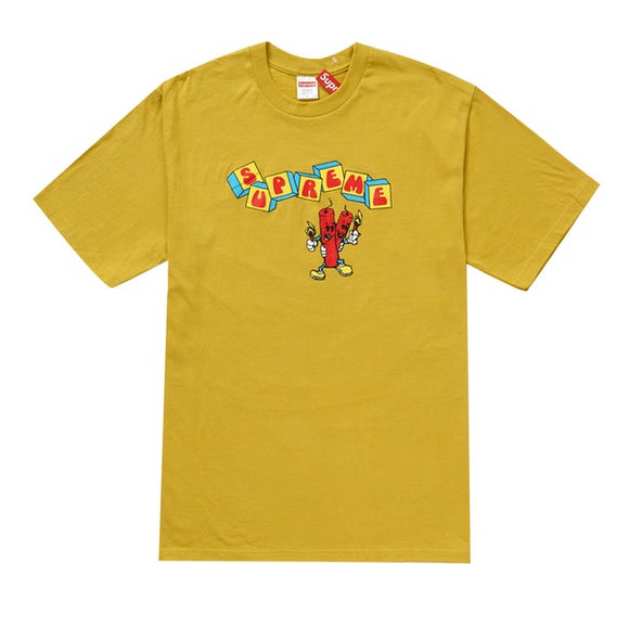 Supreme - Dynamite Logo T-Shirt (Acid Yellow)