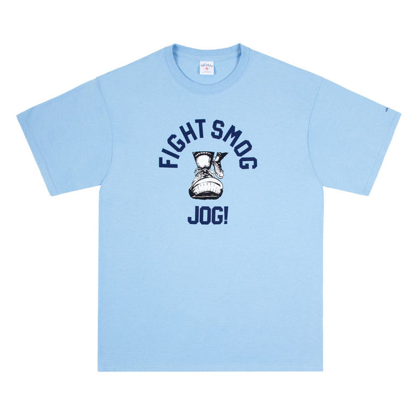 Noah x DSM LA - 'Fight Smog Jog' T-Shirt (Blue)