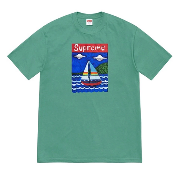 Supreme - Sailboat Logo T-Shirt (Dusty Teal)