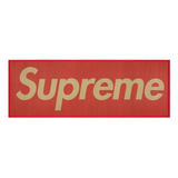 Supreme - Red Box Logo Woven Straw Mat
