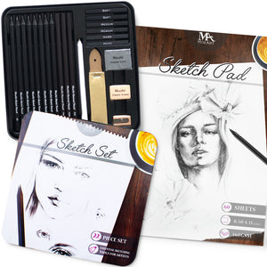 Sketch Bundle - 22-piece Sketch Set plus 60-page Sketch Pad