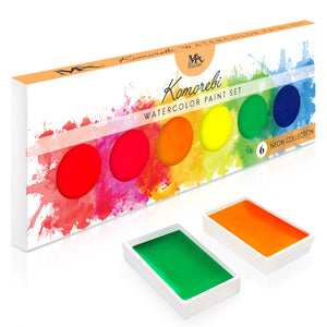 Neon Komorebi Watercolor Paint Set