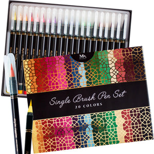 Luxury Single Brush Pen Gift Set - 20 Colors