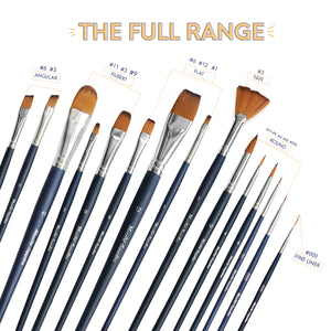 15 pcs Watercolor Paint Brush Set