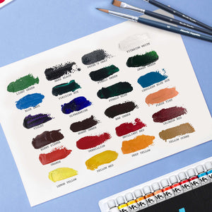 Acrylic Paint Set - 24  Colors