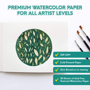Watercolor Pad -  300 GSM , Cold Pressed