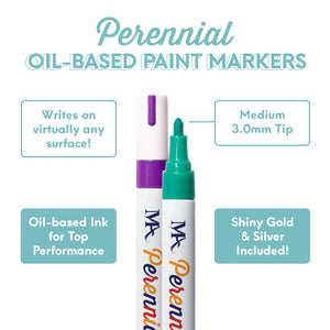 Perennial Permanent Paint Marker Set  (12 Colors)