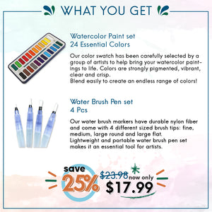 Watercolor Duo Bundle