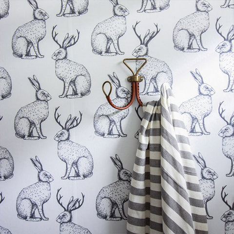 Bringing the outside into your bathroom walls with animal removable wallpaper