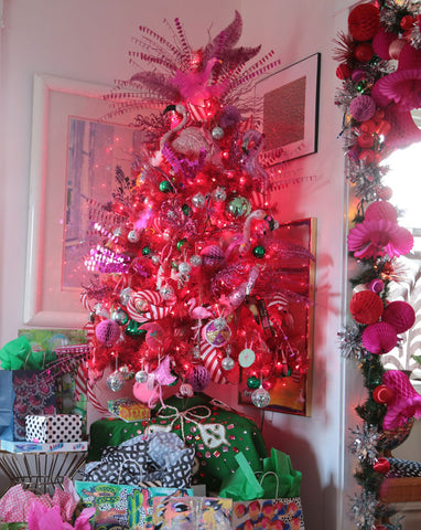 Hot pink flamingo christmas tree decorating ideas