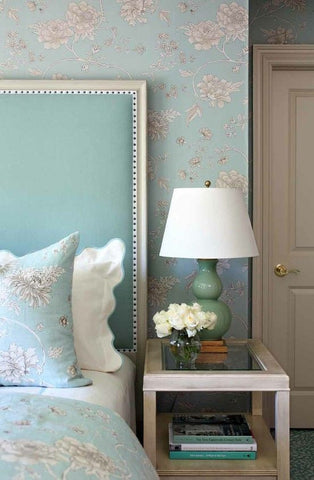 wallpaper bedhead idea