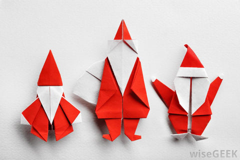 christmas origami wallshoppe idea christmas decorations made out of wallpaper