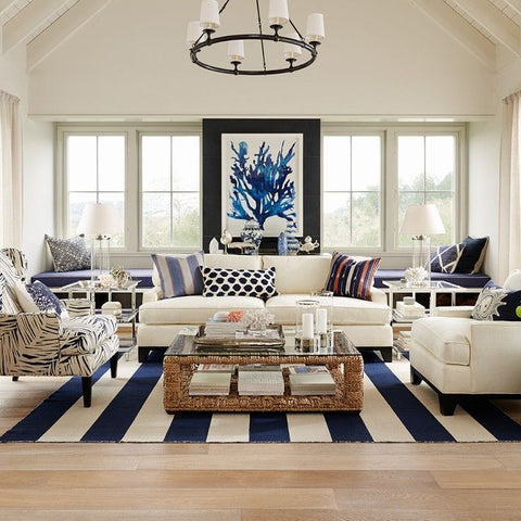 Open And Airy Blue White Design Trend Beach House Interior Style 2017