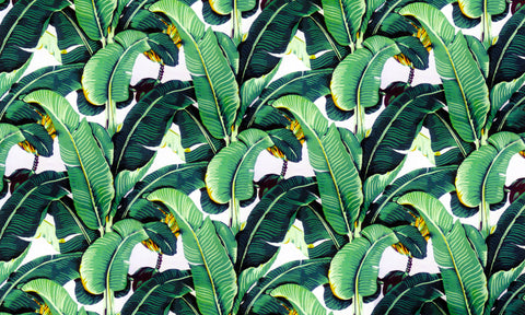 "one of the most recognizable wallpapers in the world ""The Original"" Martinique Banana Leaf wallpaper"