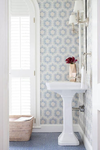 floral themed bathroom wallpaper for bathroom makeover - Wallpaper For Bathroom