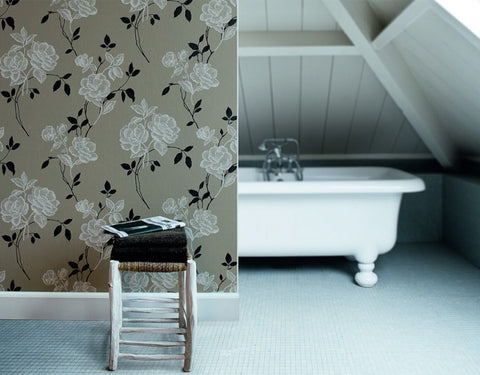 Remodeling A Small Bathroom With Removable Wallpaper Wallshoppe