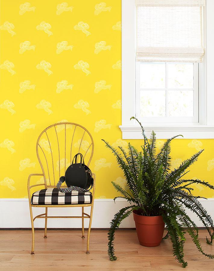 Bows Yellow  Wallpaper