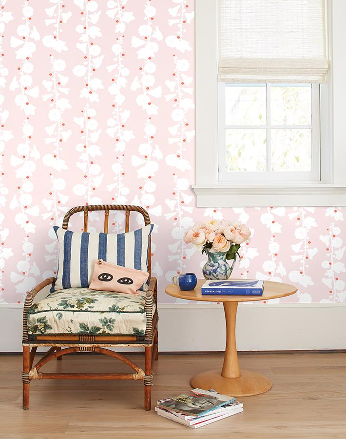 Hollyhock by Clare V. - Pink - Wallshoppe