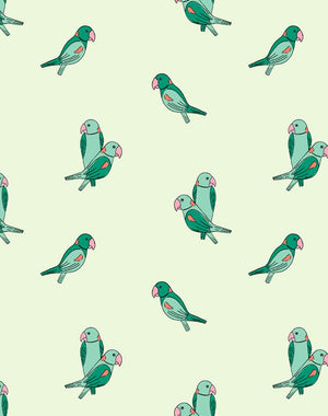 Alexandrine Parakeet Small Emerald  Wallpaper