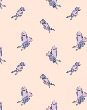 Alexandrine Parakeet Small Lilac  Wallpaper
