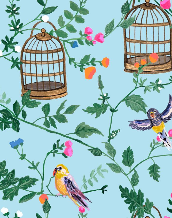 Ann's Garden - Sky Wallpaper by Carly Beck - Wallshoppe Removable & Traditional Wallpaper