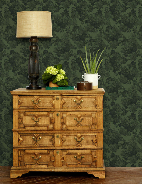 Barbara Ann Removable Wallpaper - Green - Wallshoppe