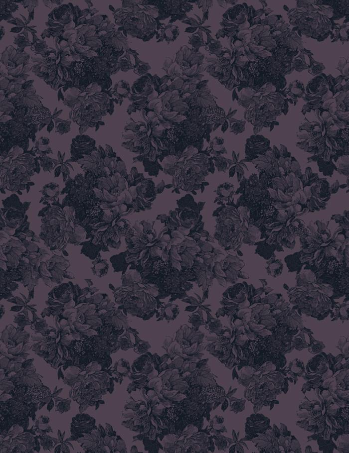 Barbara Ann Aubergine  Wallpaper