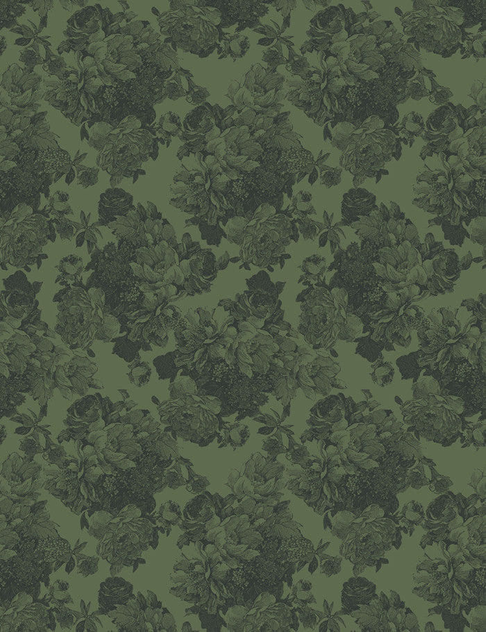 Barbara Ann Wallpaper - Green