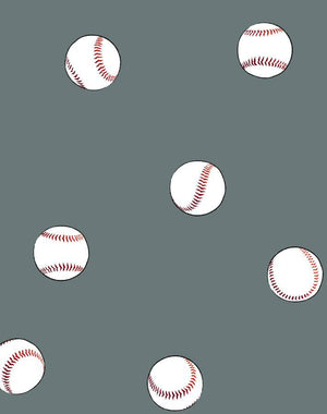 Baseball Toss Dark Grey  Wallpaper