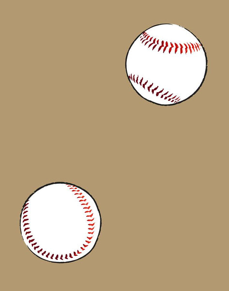 Baseball Toss Removable Wallpaper - Leather - Wallshoppe