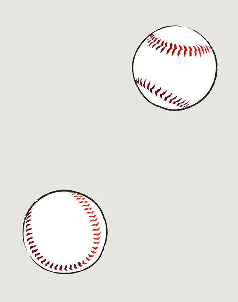 Baseball Toss Removable Wallpaper - Sand - Wallshoppe