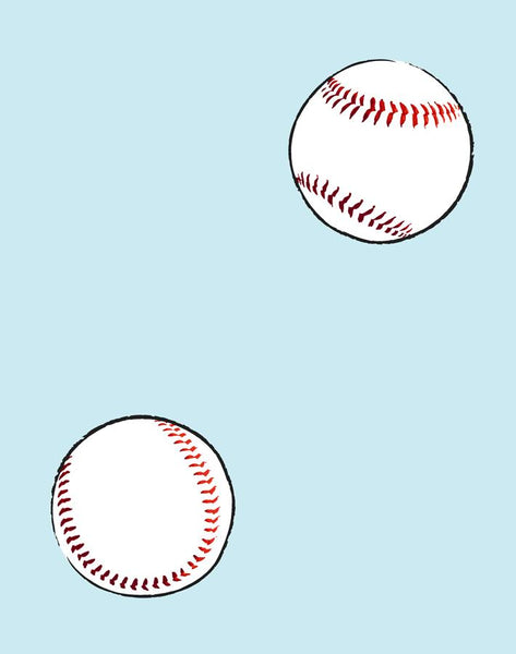 Baseball Toss Removable Wallpaper - Sky - Wallshoppe