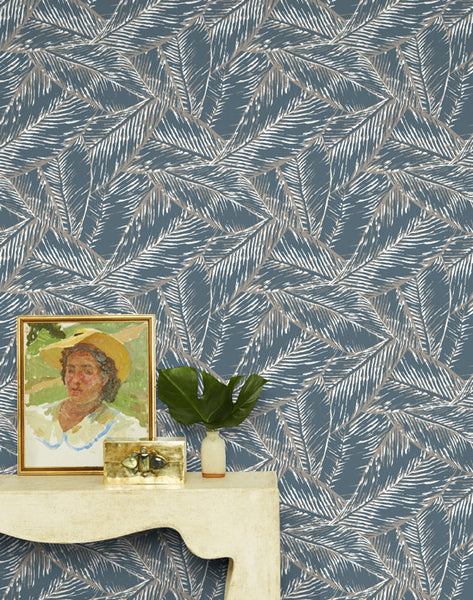 Best Fronds Removable Wallpaper - Gray - Wallshoppe