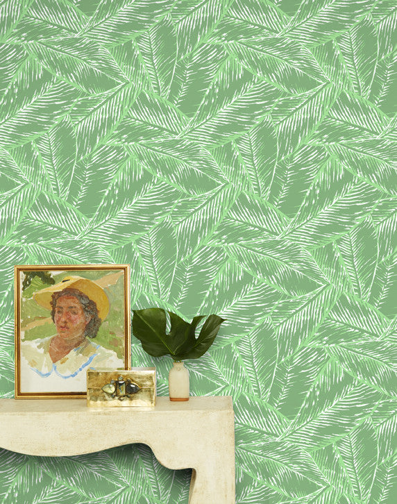 Best Fronds Removable Wallpaper - Green - Wallshoppe