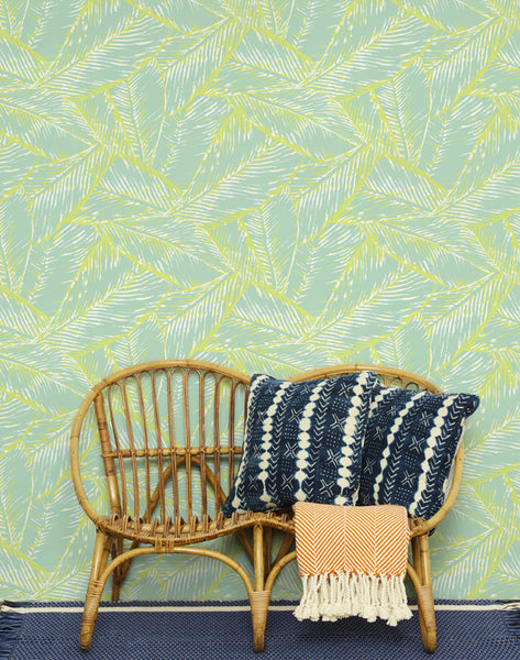 Best Fronds Removable Wallpaper - Keylime - Wallshoppe