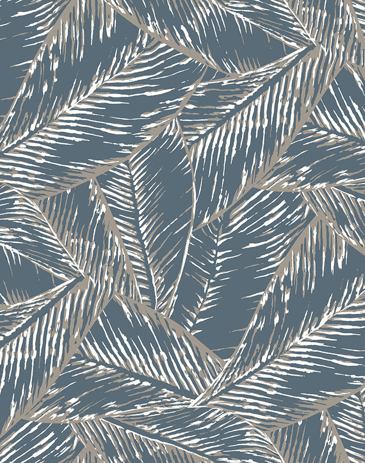 Best Fronds Wallpaper - Gray - Wallshoppe