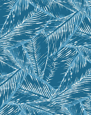 Best Fronds Cadet Blue  Wallpaper