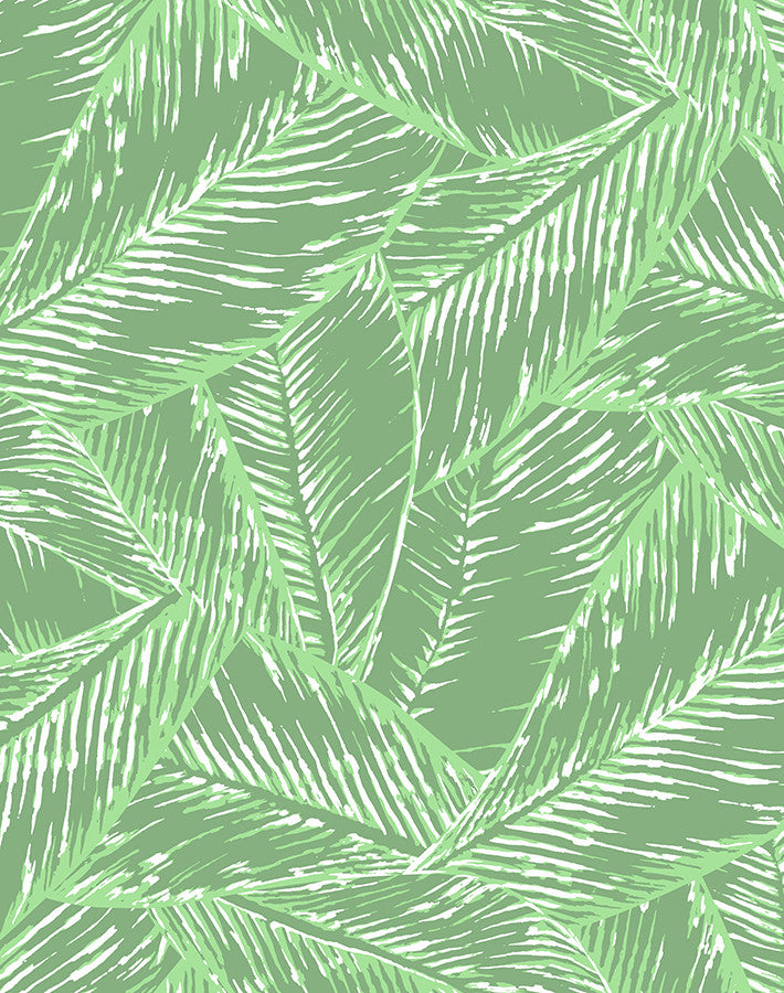 Best Fronds Removable Wallpaper - Green