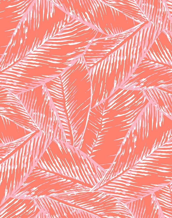 Best Fronds Retro Red  Wallpaper