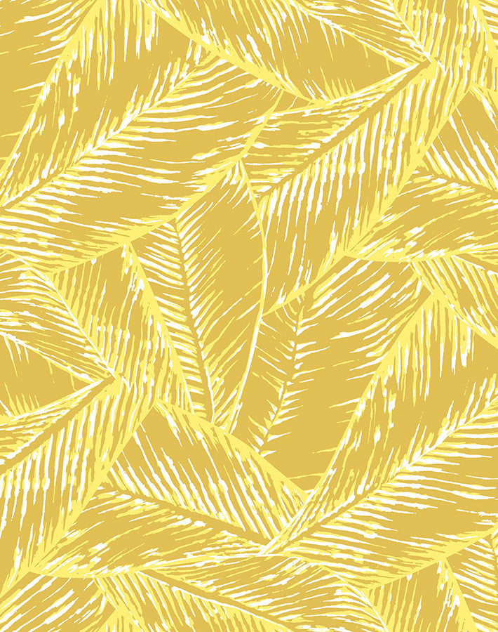 Best Fronds Wallpaper - Yellow - Wallshoppe
