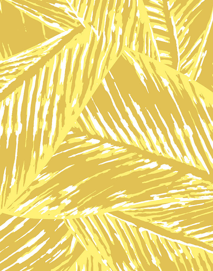 Best Fronds Removable Wallpaper - Yellow - Wallshoppe