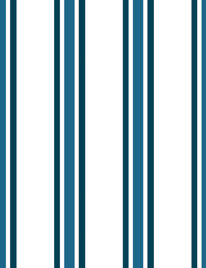 Between the Lines Removable Wallpaper - Indigo