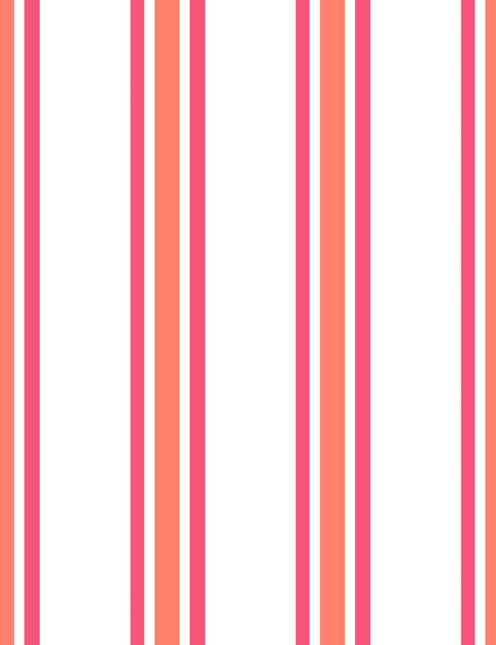 Striped Wallpaper Roll in Red