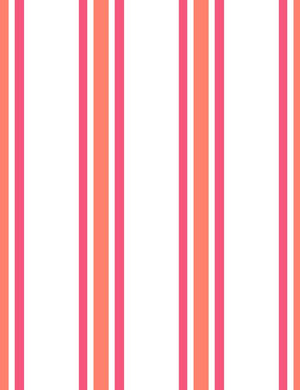 Between The Lines Retro Red Raspberry  Wallpaper