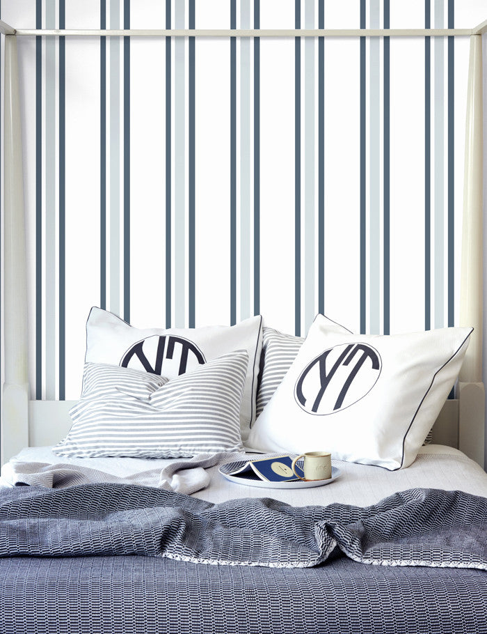 Striped Removable Wallpaper Panel Grey