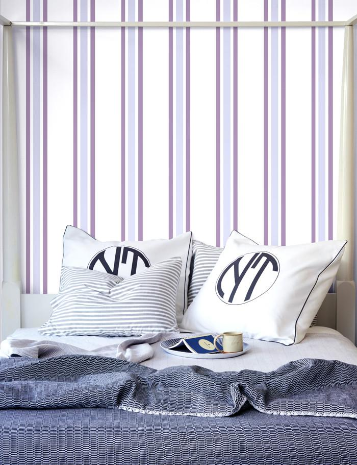 Between the Lines Wallpaper - Lavender - Wallshoppe