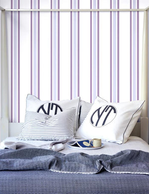 Between The Lines Plum Lavender  Wallpaper